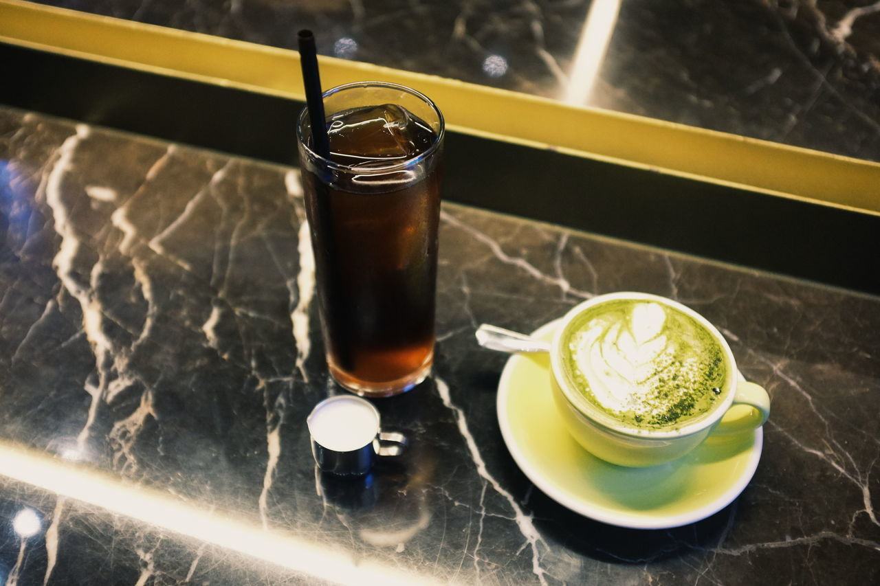 Coffee or tea Drink Food And Drink Drinking Glass Table Indoors  Refreshment Matcha Tea Ready-to-eat Food Coffee Iced Coffee Milk Cold Brew