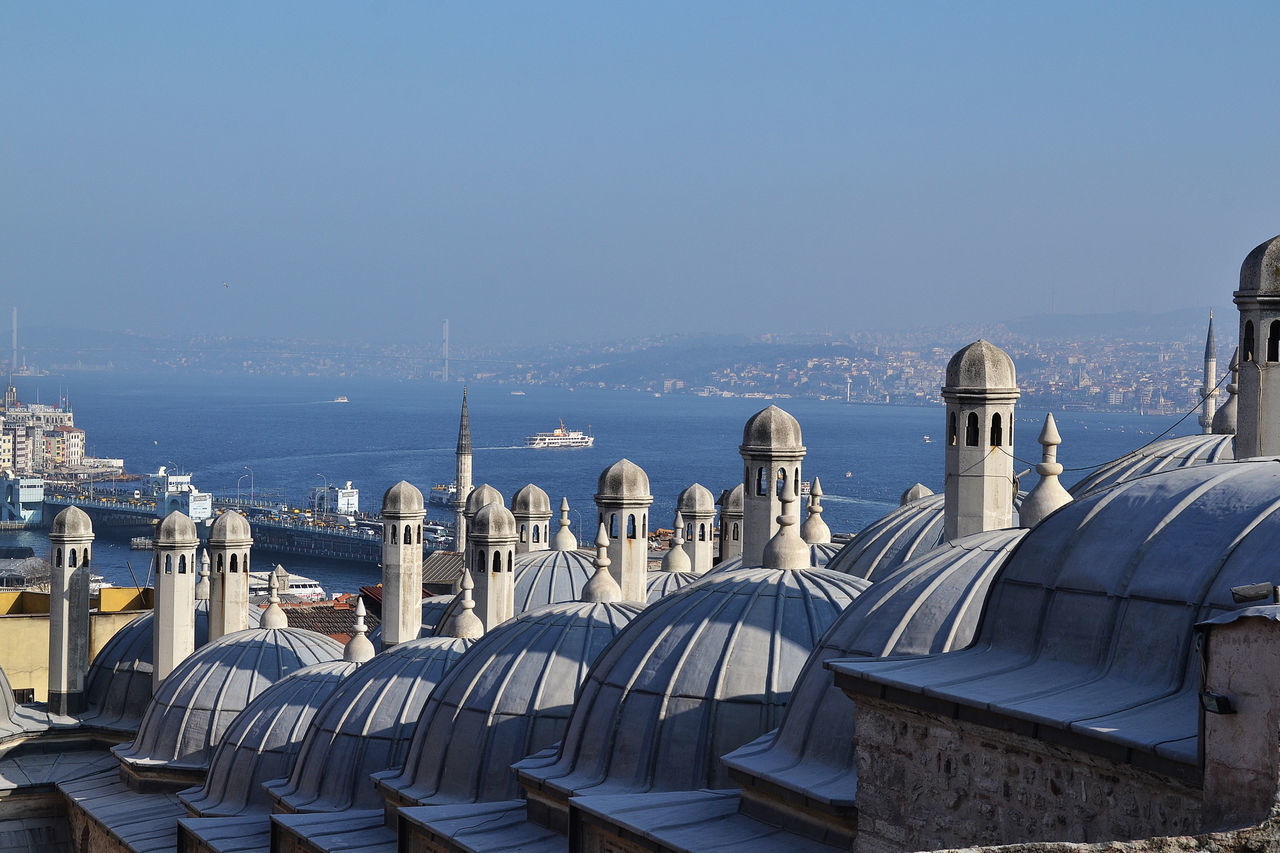 Architecture Blue Bosporus City Life Clear Sky Famous Place History Istanbul No People Outdoors Topkapi Palace Tourism View To Asian Part Water