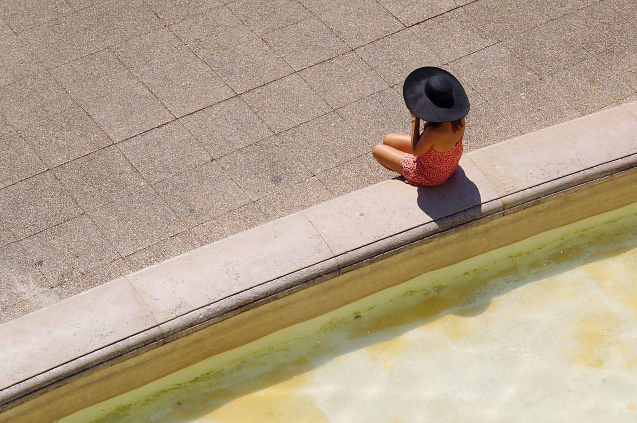 Beautiful stock photos of paris, Casual Clothing, Day, Fountain, Hat