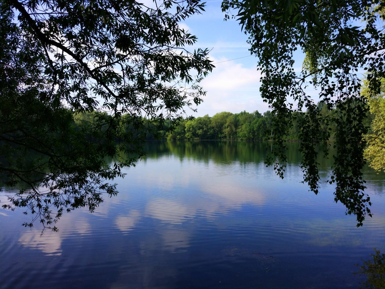 Einfach nur die Ruhe genießen Reflection Tree Water Lake Nature Outdoors Sky Beauty In Nature No People Day Flood
