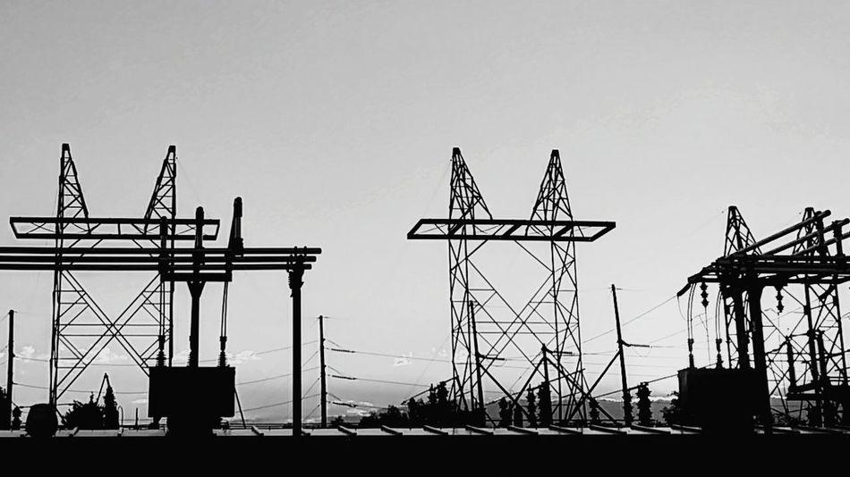 Lines Silhouette Arts Culture And Entertainment Business Finance And Industry Outdoors Sky No People Day City Street View Eyeem Streetphotography Object Photography Power Plant Power Line  Power Supply Black And White Streetphotography_bw