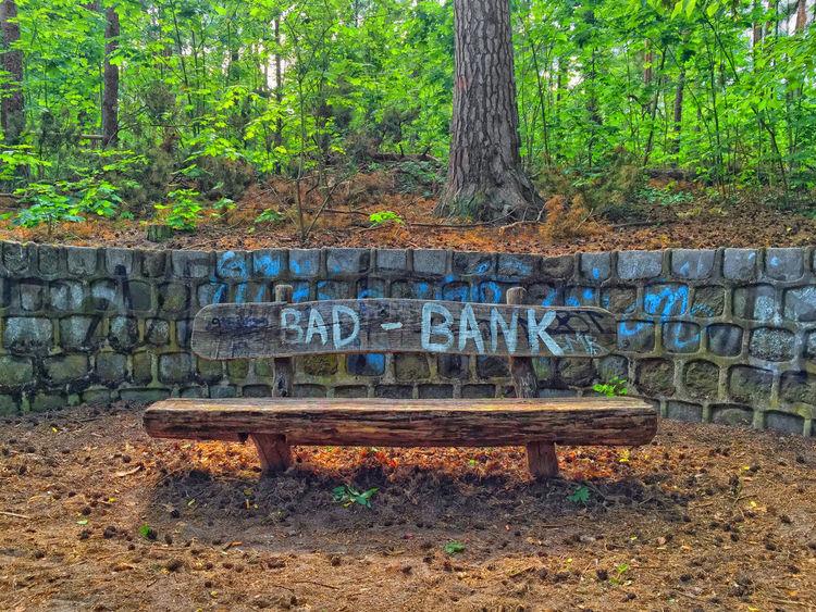 take a seat Bad Bank Bank Bench Bench Forest Have A Seat Have A Seat & Relax Leaves Nature Nature Outdoors Park Seat Seat Bench Take A Break Take A Seat Text Tree Trees
