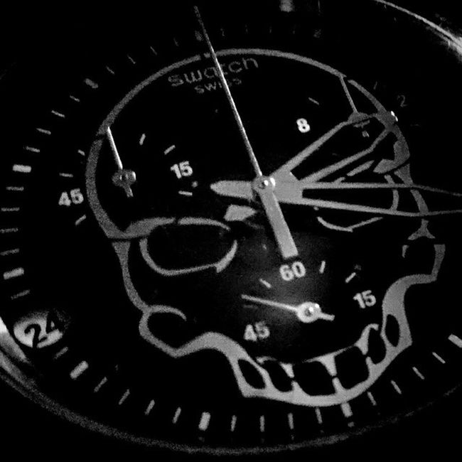 Skull Swisswatch Insomnia Playingwithmynewphone Swatch