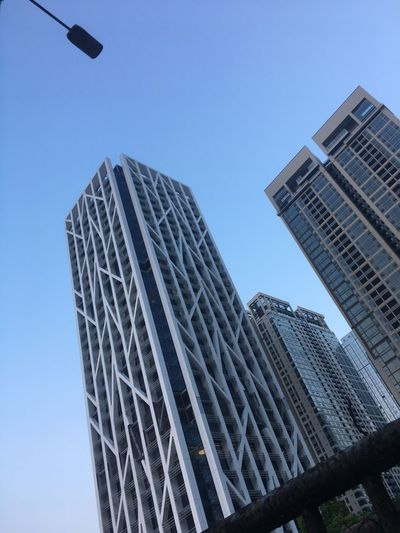 Architecture Low Angle View Built Structure Building Exterior Skyscraper Modern Tower City Outdoors Clear Sky Day No People Tall Sky