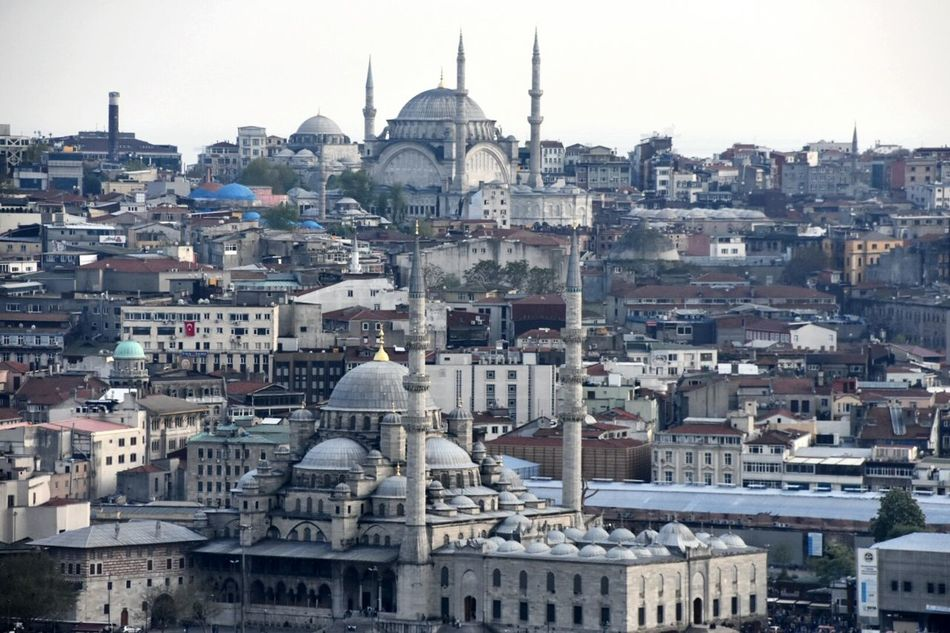 Galata Tower Istanbul Turkey Estambul From The Rooftop Mosque