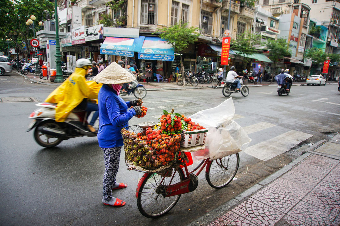 A ASIA Ho Chi Minh City Person Selling On The Street Streert Tranquility