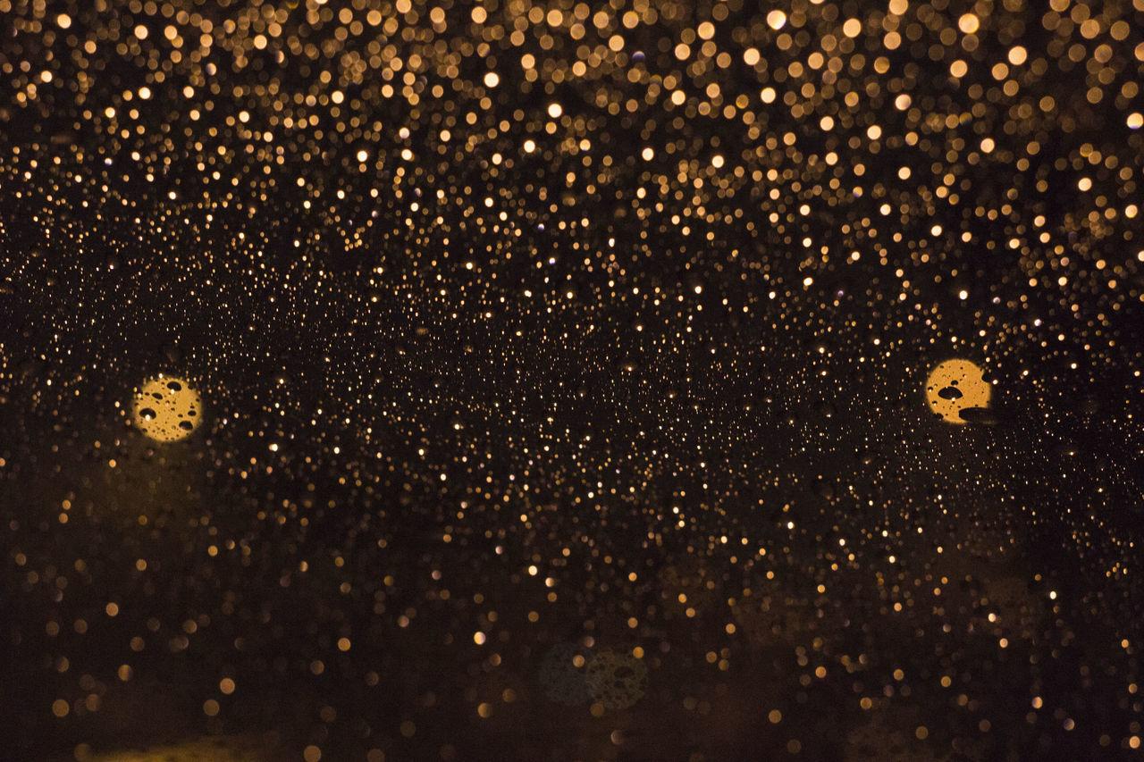 Bokeh Bokeh Photography Close-up Drop Drops Heat - Temperature Indoors  Lights Night No People Rain Tungsten  Water Waterdrops Wet Window