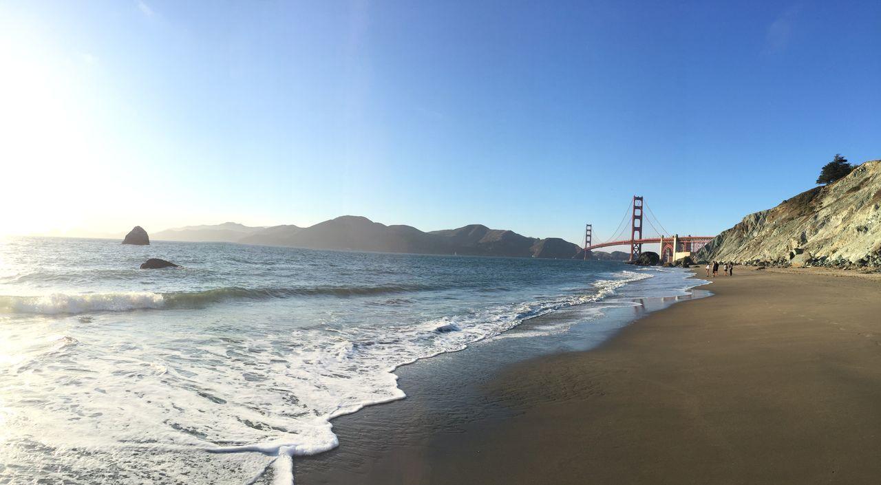 Beautiful stock photos of san francisco, Bay Of Water, Beach, Blue, Bridge - Man Made Structure