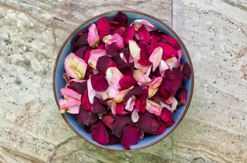 Top down capture of a bowl of rose petals Bowl Bowl Of Flowers Flower Flower Bowl Flower Petals High Angle View Nature Pink Color Rose Petals