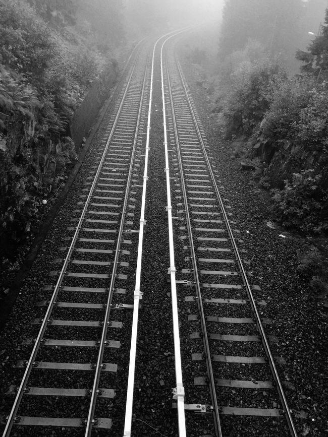 iphone, fog, mist, tracks, oslo, norway