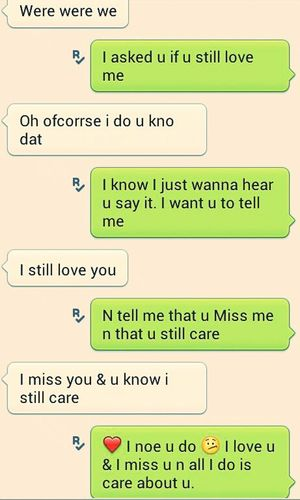 knowing he still cares <3 thats all i needed !