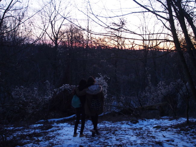 Soending time with the best friends Best Friends Lovethemsomuch Teufelsberg Berlin Sunset Winter