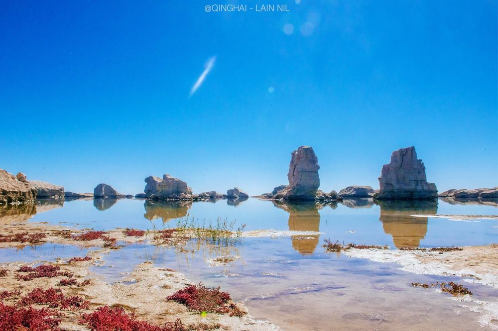 Blue Water Scenics Beauty In Nature Clear Sky Landscape Nature Qinghai