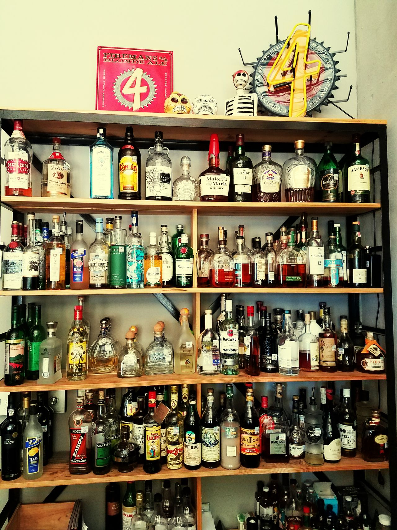 Workplace Barroom Holeinthewall Texas Town Variation Choice Large Group Of Objects Shelf Abundance Communication Collection Sale Retail  Food And Drink Still Life For Sale