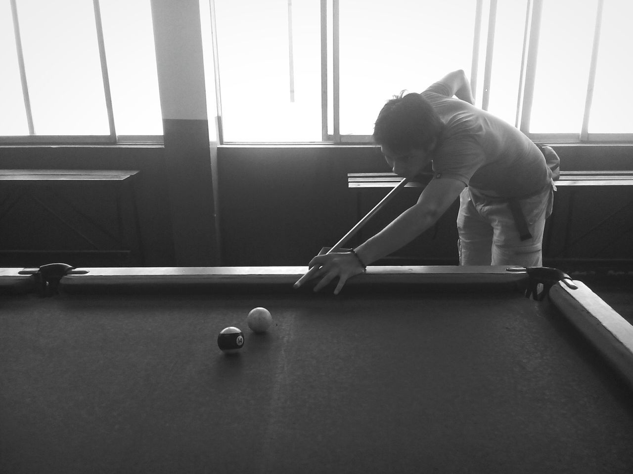 When failing becomes a crime Sport Pool Ball Indoors  Concentration Pool - Cue Sport Leisure Activity Pool Table Window One Person Pool Cue Lifestyles Adults Only People Adult Young Adult Ball Snooker Pool Hall Lomo Blackandwhite Photography Blackandwhite Monochrome Photography Real People Lima The Week On Eyem