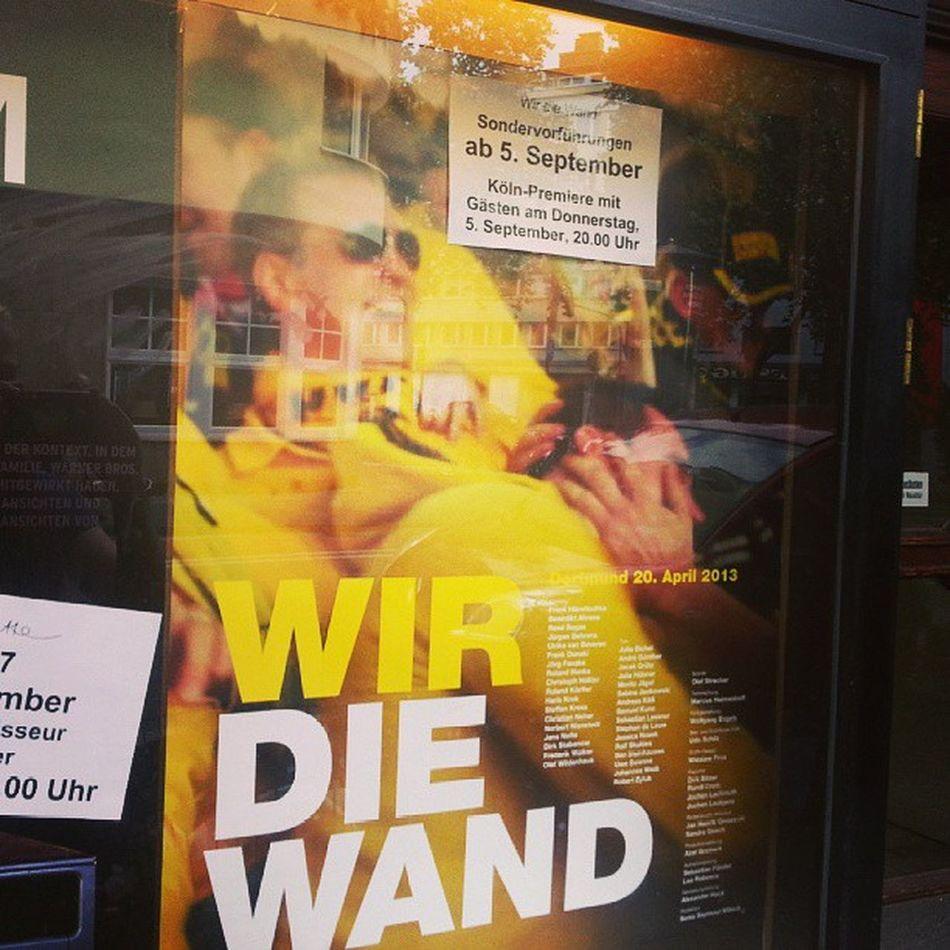 Vorankündigung 'Wir, die Wand'. Pflichttermin schon deswegen, weil ich am Drehtag im Stadion war. #BVB #borussiadortmund #koeln #cologne BvB Cologne Koeln Borussiadortmund
