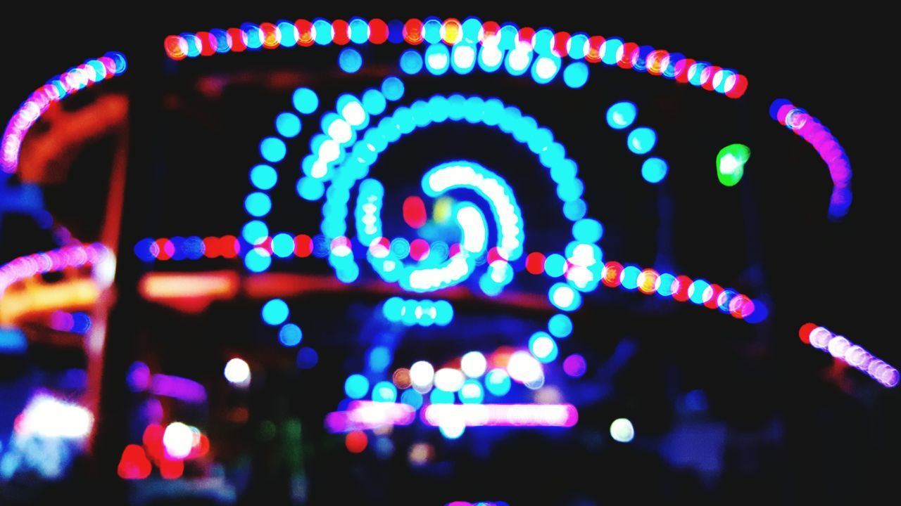 illuminated, no people, multi colored, night, close-up, outdoors, neon