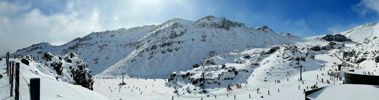 Snow New Zealand Ruapehu Freezing