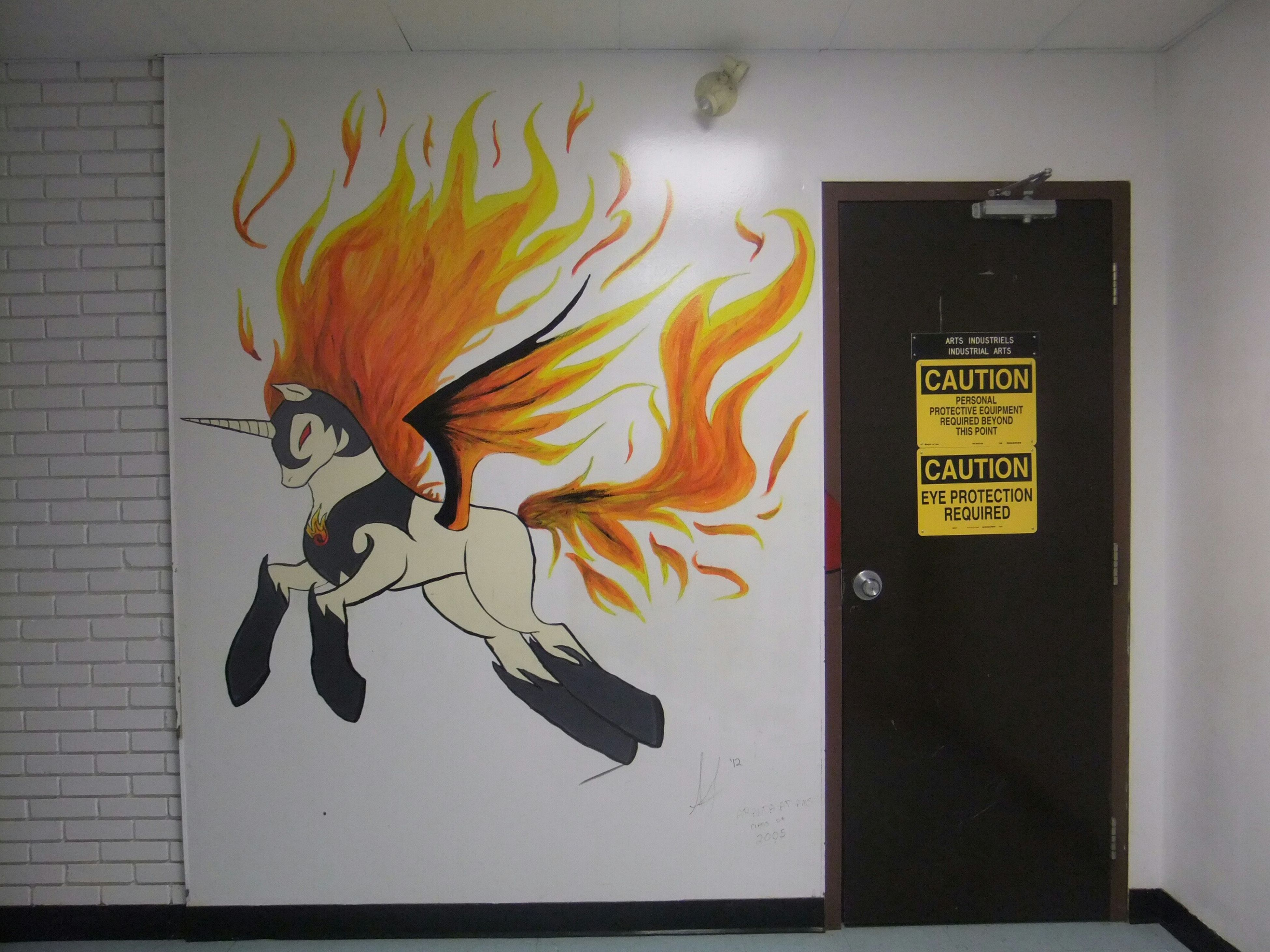 Signs Signage ArtWork Danger Orange Door Do Not Enter Art, Drawing, Creativity Industrial Arts Complex Getting Inspired