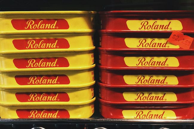 Found Roland, he's an anchovy. EyeEm In NYC 2015 Food Fish USA Packaging Grocery Shopping