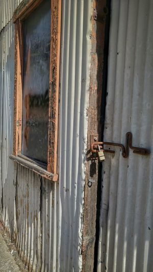 Santa Barbara shed California Santa Barbara, CA Rust Rustic Dilapidated Lock Bolted Locked Out Locked Up Metal
