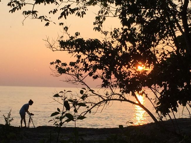 First Light Of The Day First Thing I See Orange Sky Orange Tone Sea And Sky Seaside Rocky Beach Rayong,Thailand Travel Destinations Love Thailand Where You Should Go Before Die 43 Golden Moments