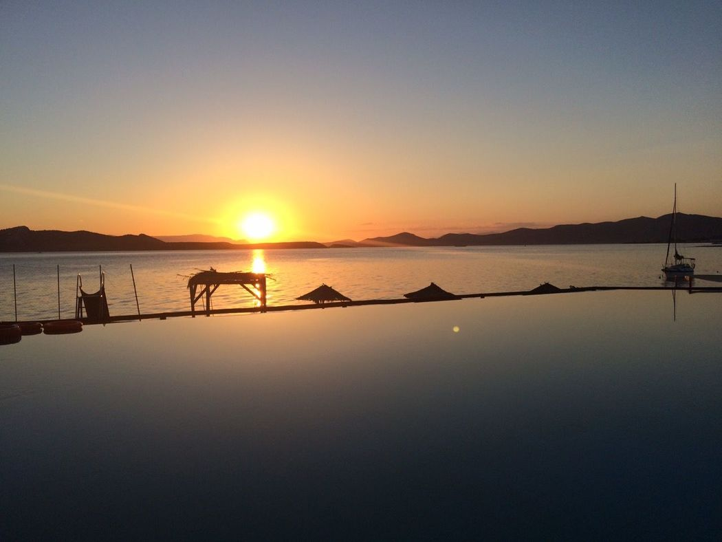 43 Golden Moments Sunset Ios Island Greece Pool Time Poolside Heaven On Earth Paradise On Earth