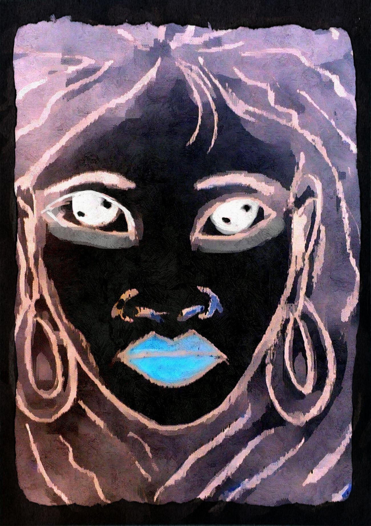 Close-up Human Representation Creativity Drawing - Activity Art And Craft Drawing - Art Product Textured