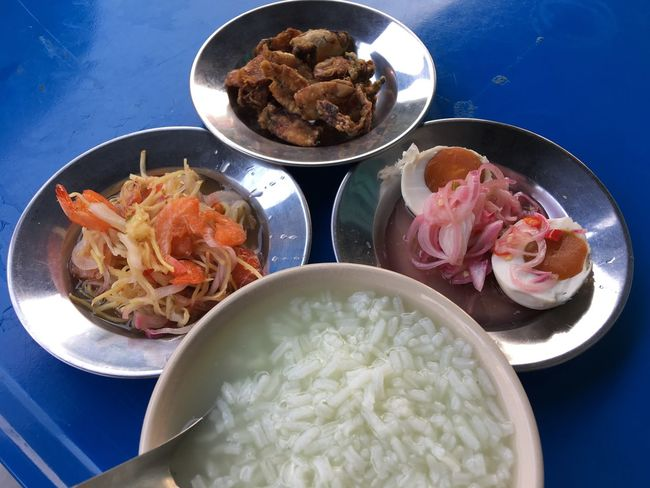 Food And Drink Food Freshness Bowl Plate Healthy Eating Serving Size Indoors  Table Ready-to-eat No People Day ข้าวต้มกุ้ย