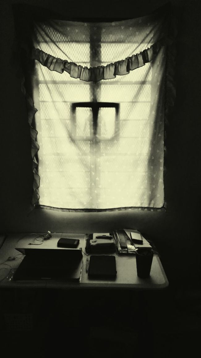 Learn & Shoot: Single Light Source Still Life Monochrome Blackandwhite Workathome Mood Captures Available Light Lonely Place  EyeEm Best Edits Windows