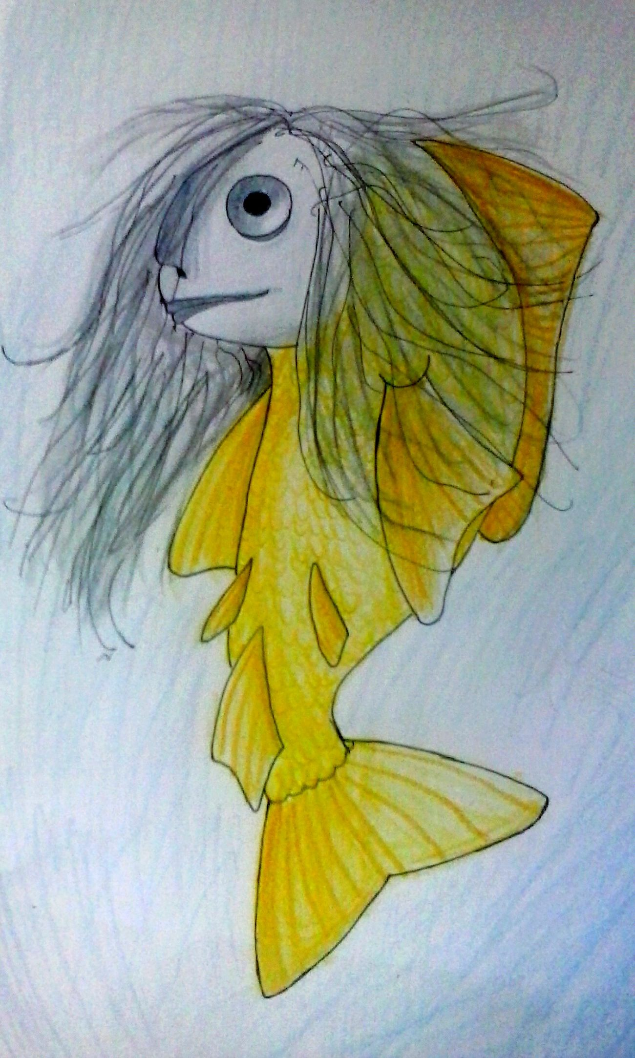 The Japanese Mermaid - Ningyo. Japan Mythology Myth Mermaid Ningyo Fabulous Creatures Sea Creatures Art Drawing Creativity