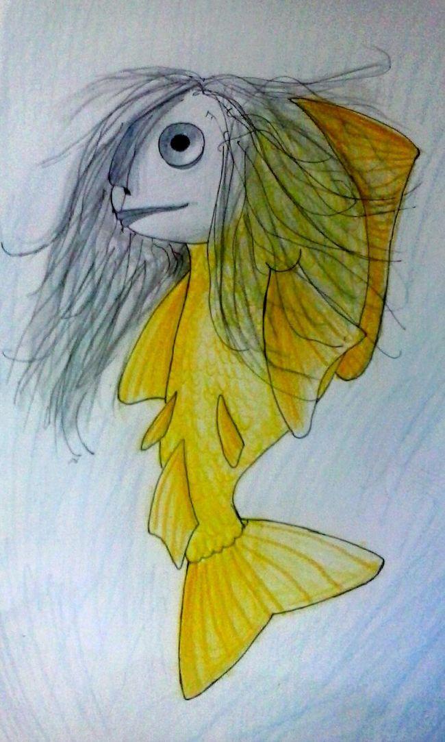 The Japanese Mermaid - Ningyo. Japan Mythology Myth Mermaid Ningyo Fabulous Creatures Sea Creatures Art Drawing Creativity