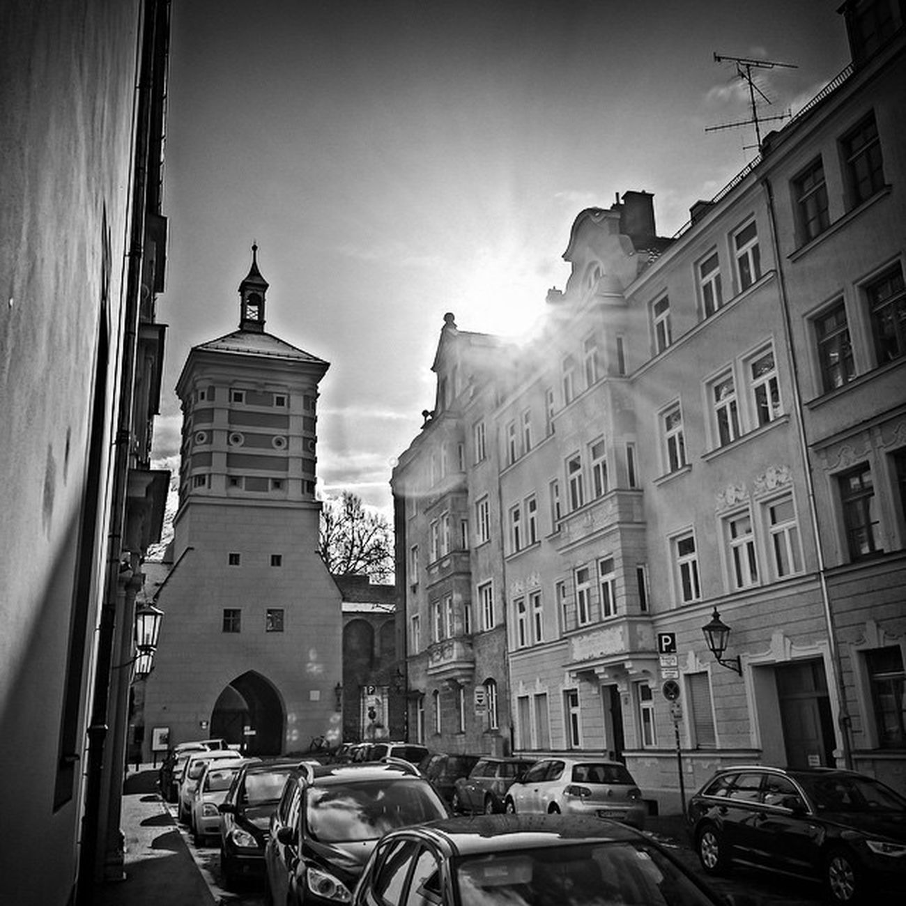 Sun Sonne HDR Bw Augsburg Hydra Photoshopexpress Rotestor