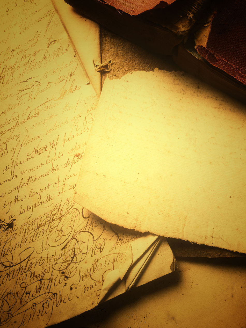 Vintage documents with old book Atmospheric Book Copy Space Filtered Image Indoors  Leather Nobody Nostalgic  Old Documents Old Handwriting Paper Phone Camera Romantic Sepia Textures Torn Edges Vintage Warm Colors Words