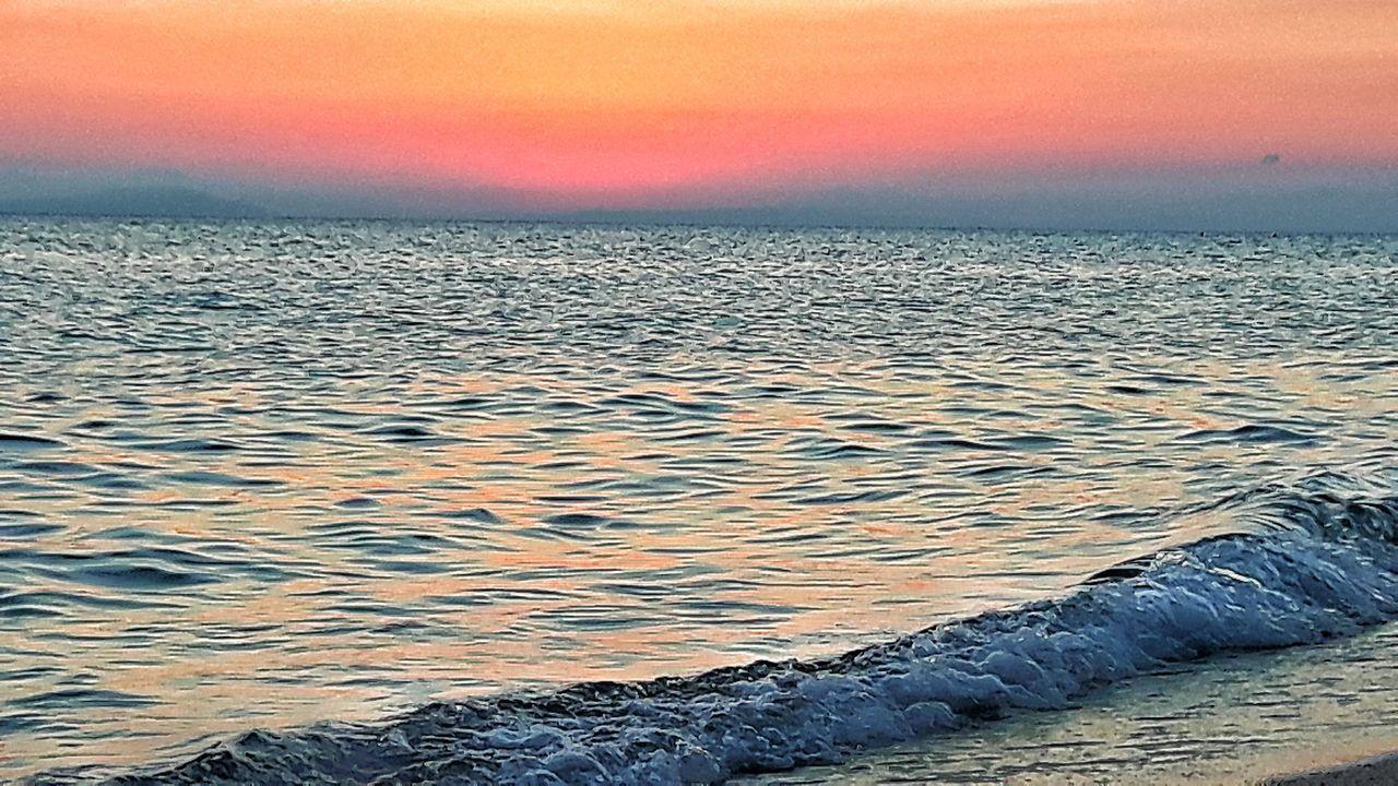 Sunset Dramatic Sky Sky Sunrise Beauty In Nature Nature No People Water Sea Beach Sardinia Sardegna Italy  Cagliari, Sardinia Tranquility Sardinia Orange Sky Orange Sky Sunset Pink Pink Sky