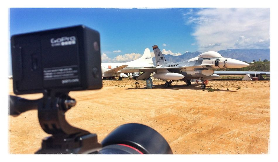 Behind the scenes action at the Boneyard. We will see what the time lapse shows with the GoPro. Gopro Boneyard USAF F16