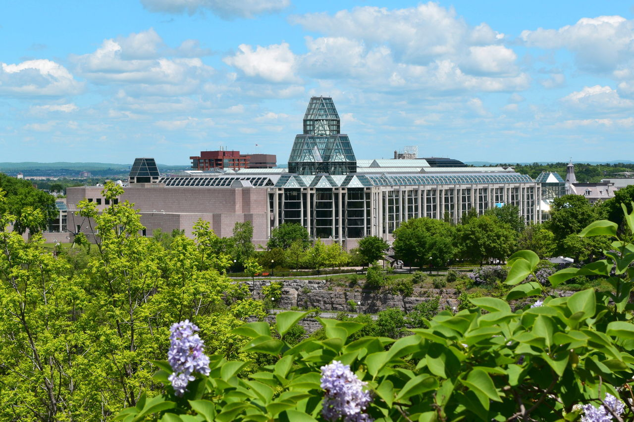 Architecture Building Exterior Built Structure Canada City Cloud Cloud - Sky Day Flower Formal Garden Fragility Freshness Garden Green Color Growth Musée Des Beaux Arts National Gallery Of Art Nature No People Outdoors Plant Scenics Sky Skyscraper Water