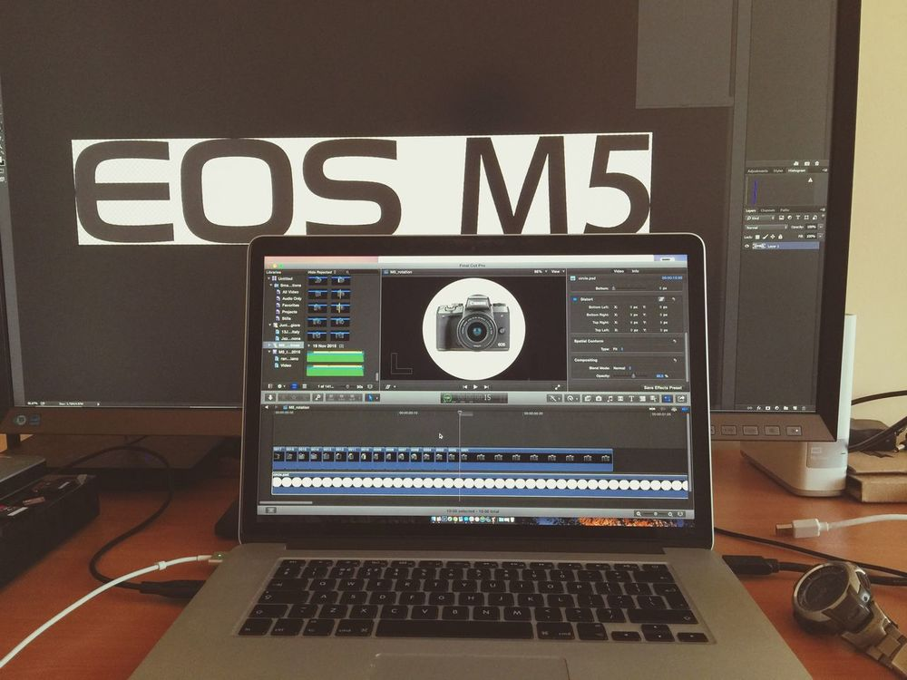 Finishing off some great footage working together with Canon Bulgaria📸📸📸👌🏼😉❗️ Technology Indoors  Connection No People MacBookPro M5 EOS Canon Editting Video FinalCutPro Timelapse