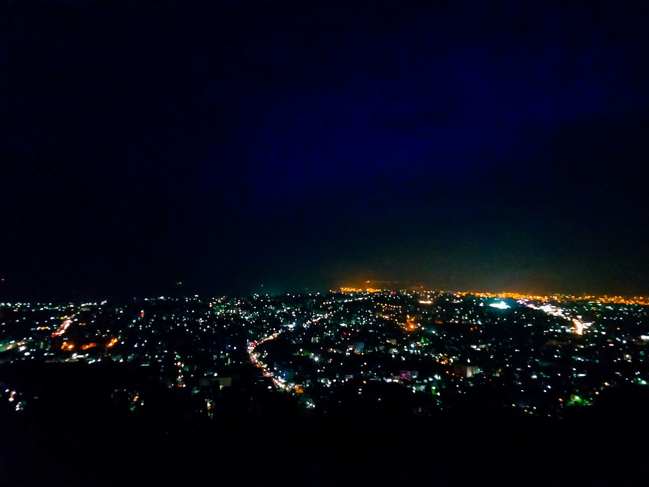 Night view of visakhapatnam.. Don't complain because I capture all my pictures from my phone.. Enjoy Night Illuminated City Cityscape Aerial View Atmosphere No People Scenics Nightlife City Life High Angle View Visakhapatnam My Favorite Place