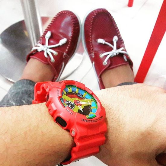 Thursday is Red day for me... Ootd Gshock_Lover ❤
