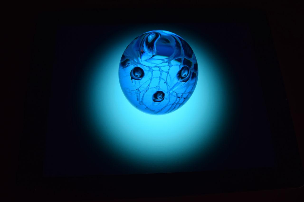 blue, indoors, no people, studio shot, illuminated, electricity, close-up, day