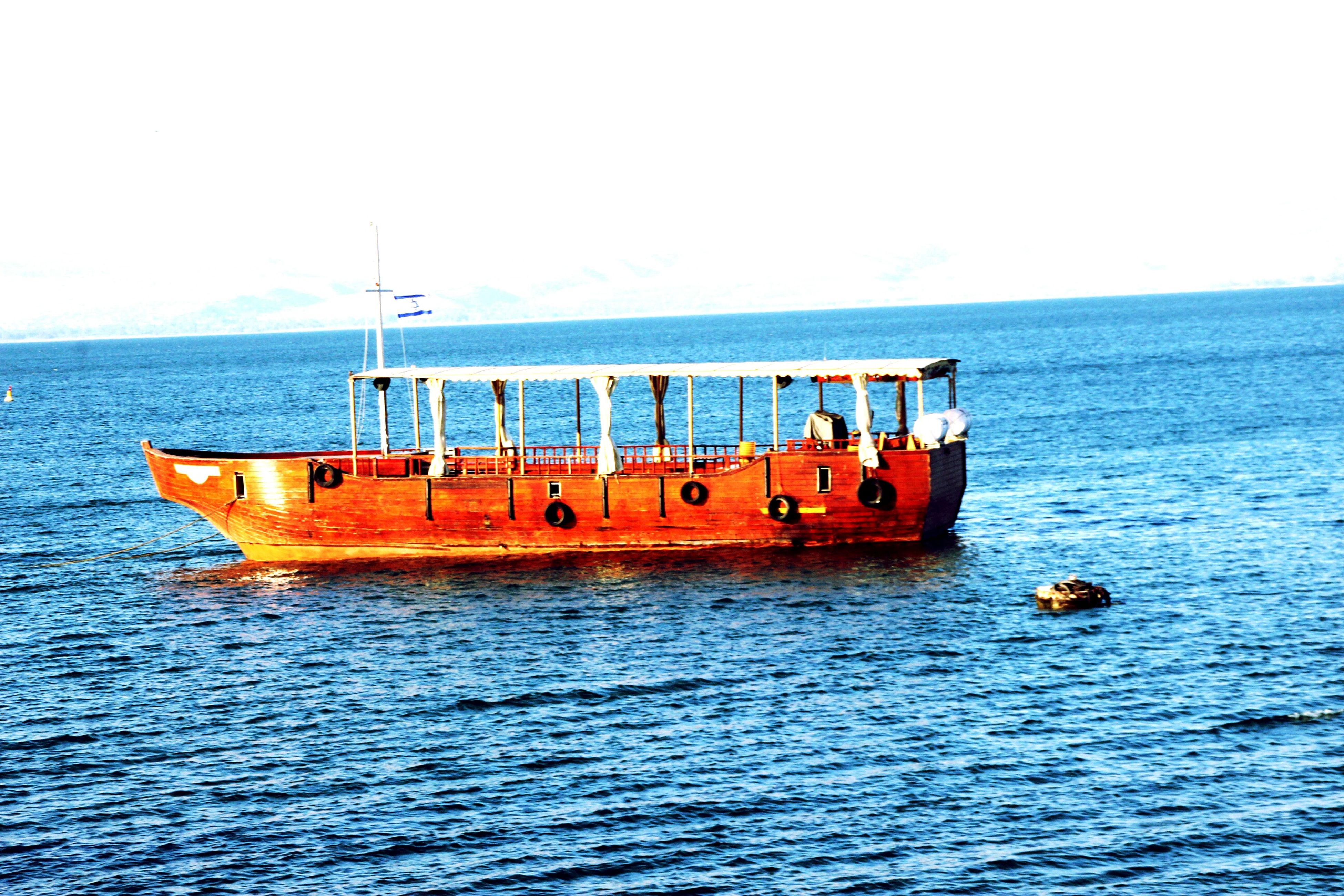 transportation, nautical vessel, water, sea, mode of transport, boat, waterfront, clear sky, horizon over water, moored, copy space, rippled, nature, travel, sailing, tranquil scene, tranquility, beauty in nature, blue, day