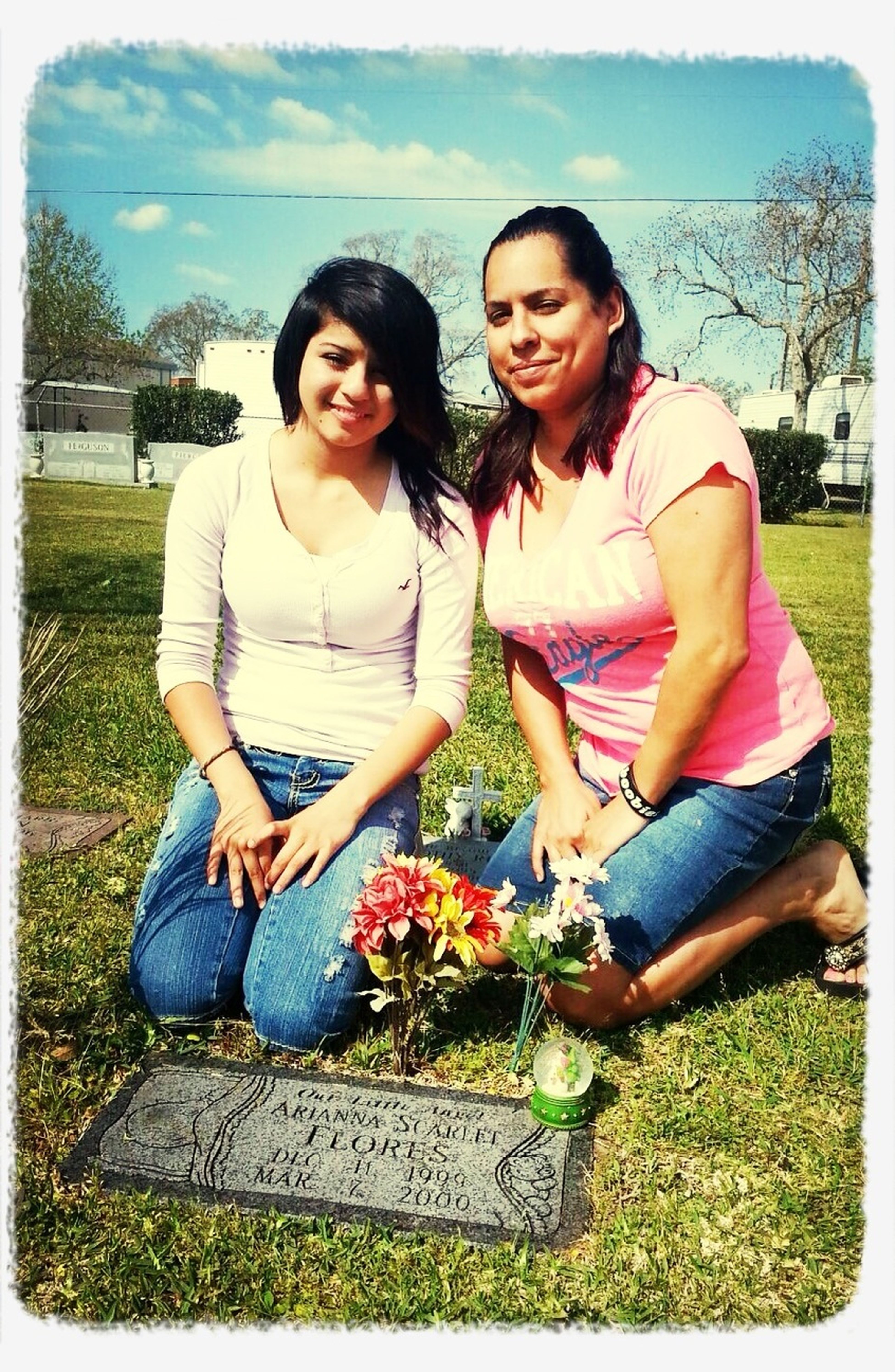 Me and my daughter, Monica ..:) visiting my baby girl ..RIP Arianna Scarlett