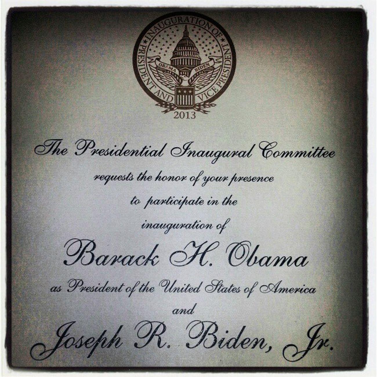 Invitation to me? Obama2013 POTUS President DC USA inauguration whitehouse biden