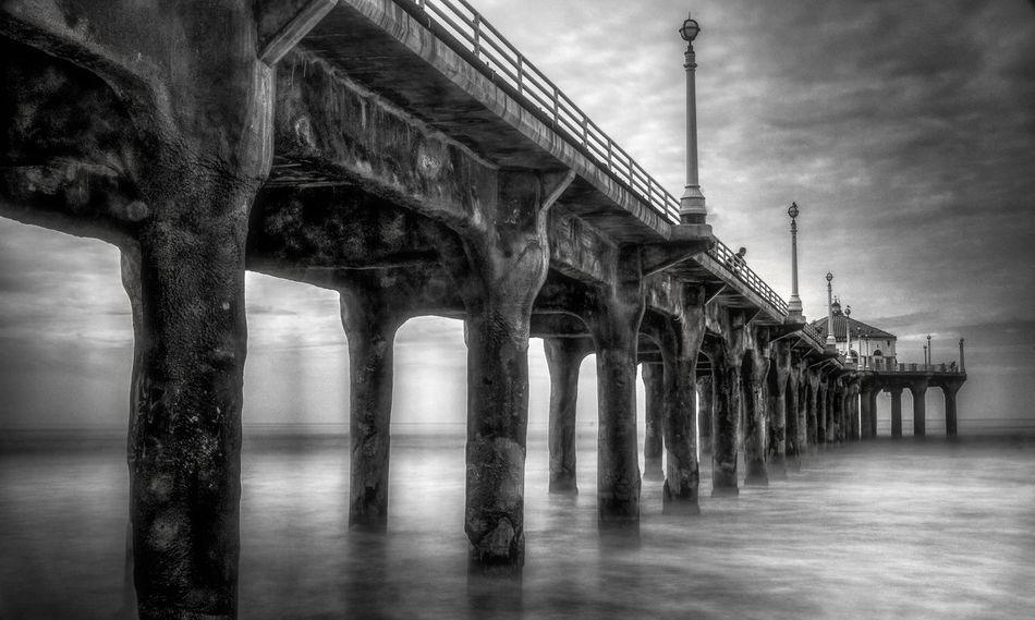 Art California Drought Cello Mud Mushroom Pier,sunset At Pier,oceanside Ca.,beach,sun,pier,ocean,sea,usa Beach, Shitaki Time Exposure
