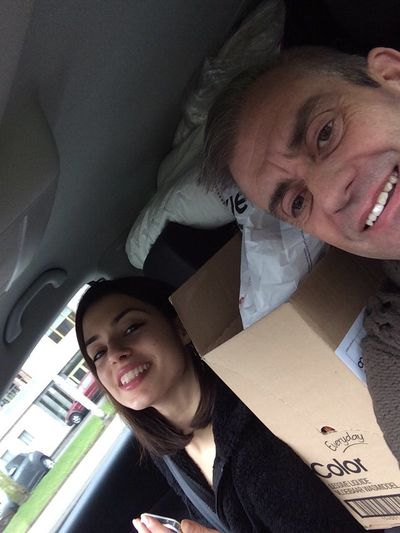 Carselfie during the relocation of my best best friend Maria Carselfies