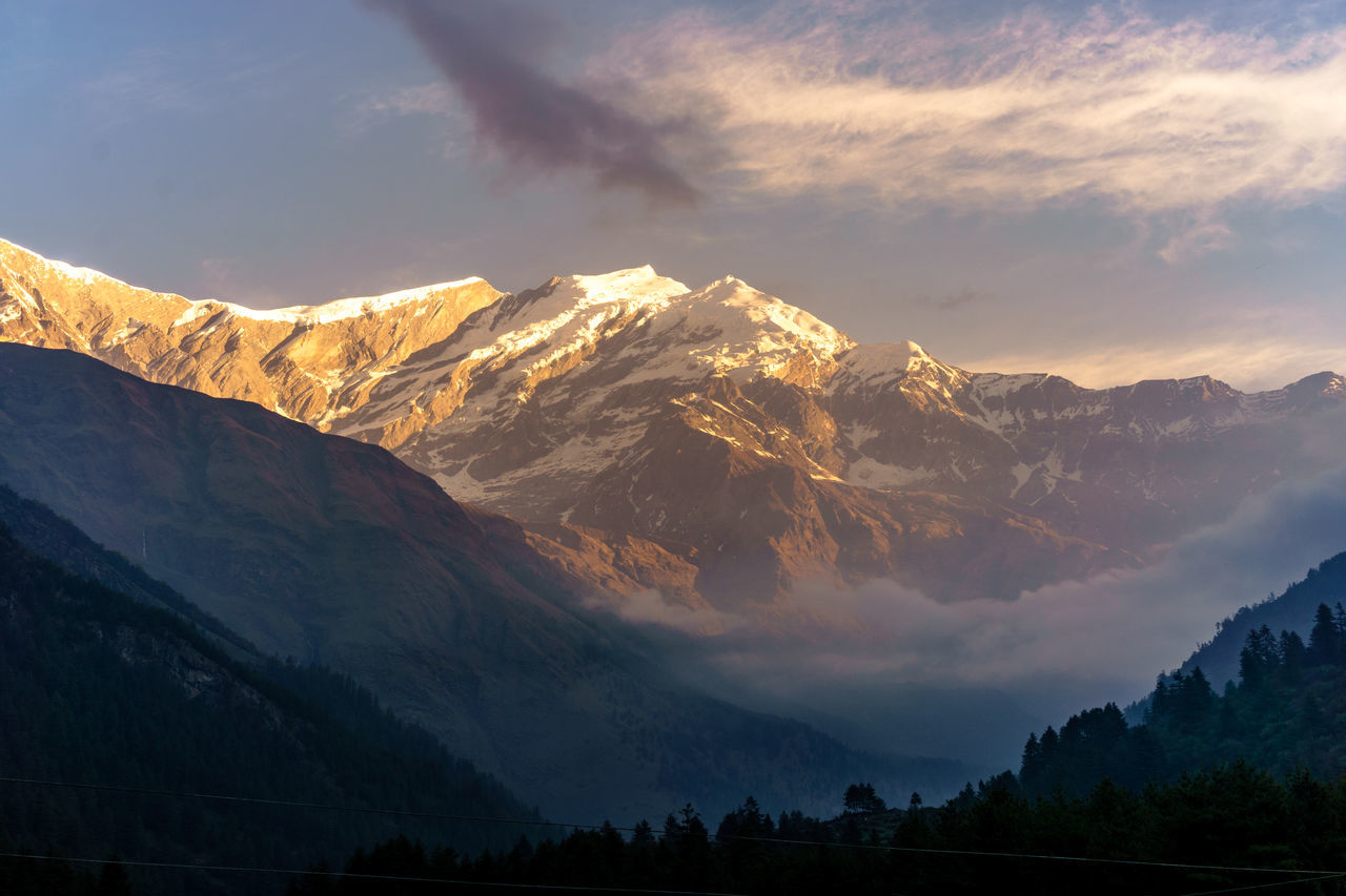 Annapurnacircuit Beauty In Nature Cloud - Sky Cold Temperature Day Idyllic Landscape Majestic Mountain Mountain Range Nature No People Outdoors Peak Range Scenics Sky Snow Snowcapped Mountain Tranquil Scene Tranquility Winter