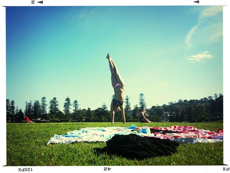 warming up in Kiama NSW Aussiesummer