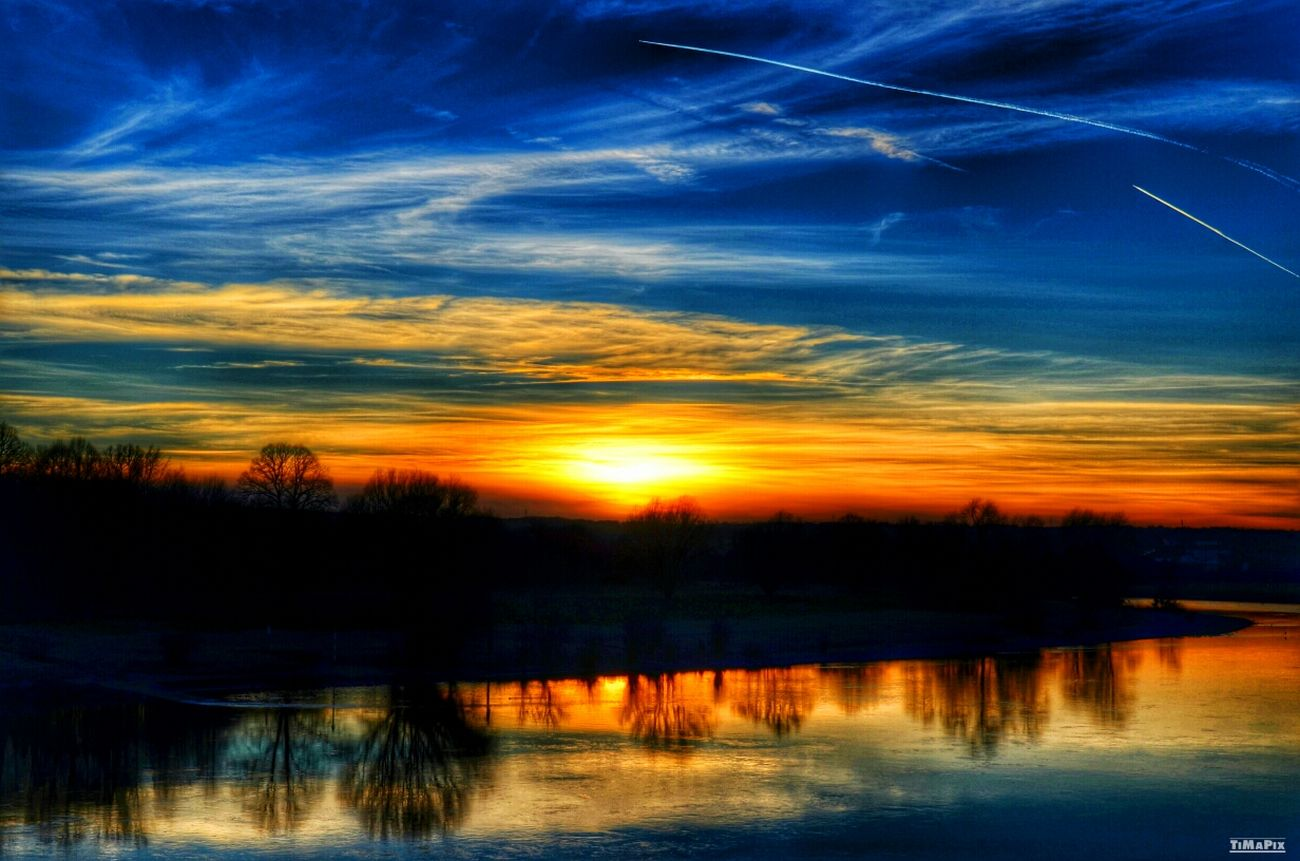 HDR Sunset Dresden Elbe