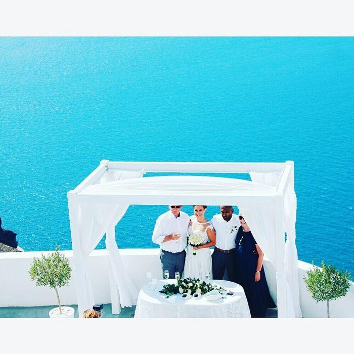 Mediterranean Bride Wedding Bridegroom Newlywed Wedding Dress Beginnings Wedding Ceremony People Blue Wedding Photography